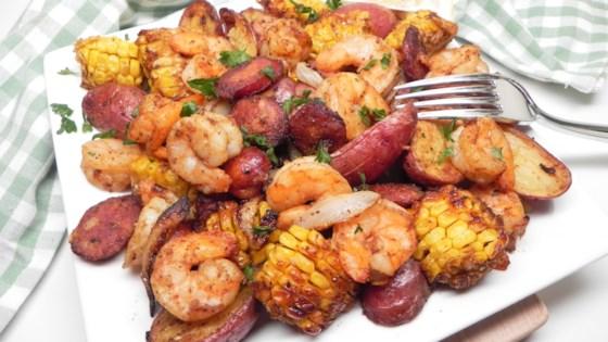 "Photo of Air Fryer Shrimp ""Boil"" by Soup Loving Nicole"
