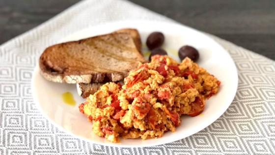 Spanish Chorizo and Tomato Scrambled Eggs Recipe
