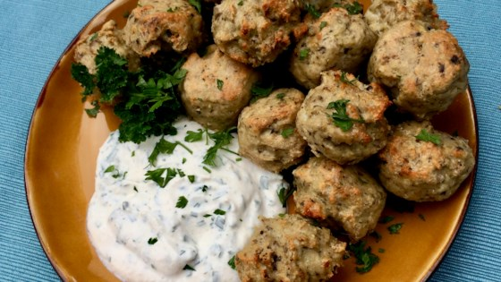 Photo of Keto Turkey Meatballs with Sour Cream-Horseradish Dip by Bibi