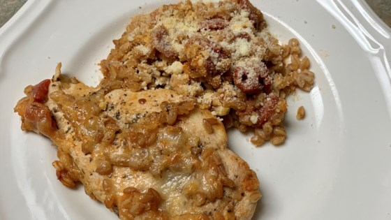 Photo of Easy Tuscan Chicken and Farro Skillet by thedailygourmet