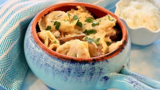 Photo of Mushroom Tortellini Alfredo by lutzflcat