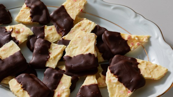 Photo of Chocolate-Dipped Peppermint Bark by KATLIST