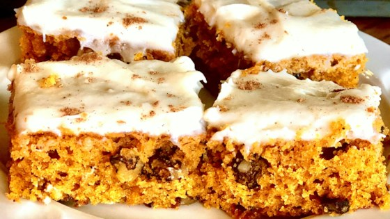 Photo of Pumpkin Bars with Cream Cheese Frosting by WeibellMommy