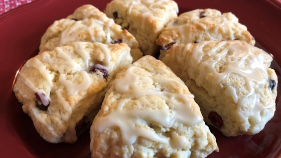 Photo of Cranberry-Orange Scones with Walnuts by Jeannette