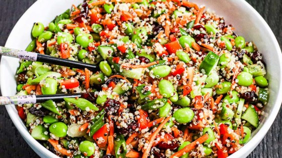 Photo of Easy Quinoa and Edamame Salad by Plant Based Life