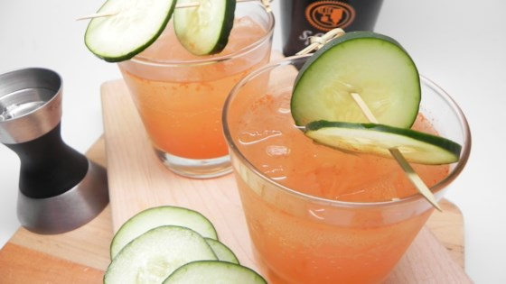 Photo of Spicy Sparkling Cucumber Cocktail by Soup Loving Nicole