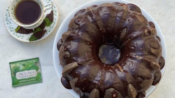 Photo of Peppermint Tea Chocolate Cake by JenniferLL