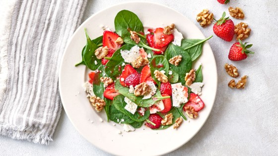 Photo of Spinach, Walnut, and Strawberry Salad by California Walnuts