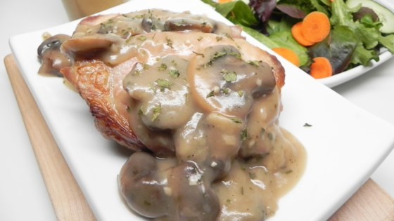 Photo of Pork Chops With Mushroom Gravy by almondjoy2807
