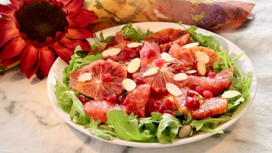 Photo of Blood Orange Salad with Caramel Dressing by lutzflcat