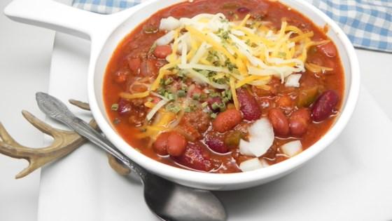 Photo of Instant Pot® Venison Chili by Soup Loving Nicole