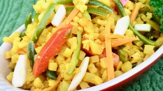 Photo of Golden Cauliflower Rice with Garden Vegetables by Bibi