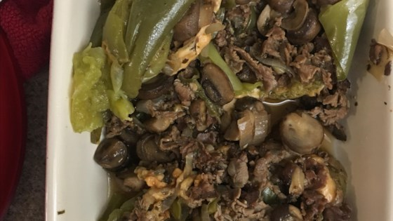 Photo of Instant Pot® Philly Cheesesteak Stuffed Peppers by thedailygourmet