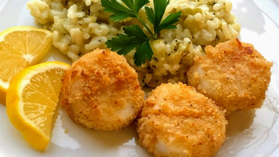 Photo of Air Fryer Breaded Sea Scallops by Kim's Cooking Now