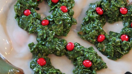 Christmas Cornflake Wreath Cookies Recipe Allrecipes Com