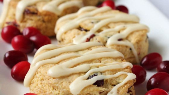 Photo of Cranberry Eggnog Cornbread Scones by jowolf2