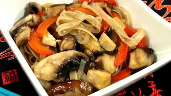 Photo of Mushroom, Tofu, and Noodle Stir-Fry by Bren