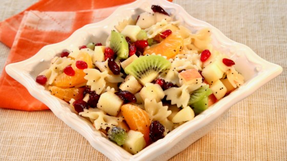 Photo of Winter Fruit and Pasta Salad by lutzflcat