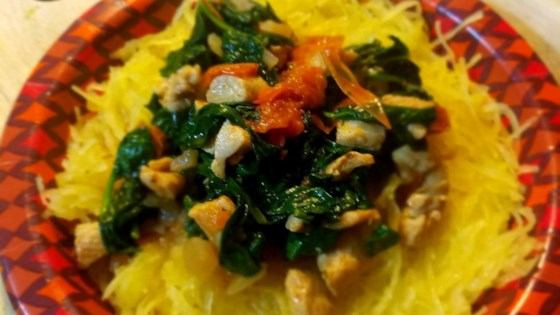 Photo of Spaghetti Squash with Spinach and Chicken  by Jerry Trevino