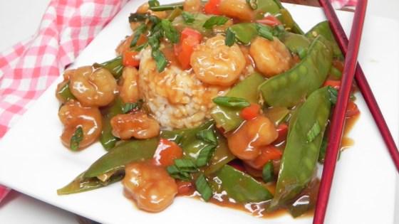 Photo of Sesame Shrimp and Snow Peas Stir-Fry  by BacardiGirl