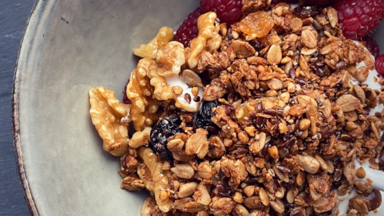 Photo of Greek Yogurt Bowls with Granola by Buckwheat Queen