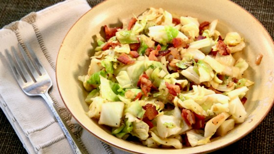 Fried Cabbage with Bacon and Garlic Recipe