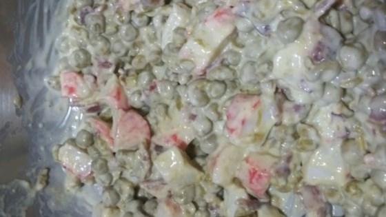 crab and pea salad recipe  allrecipes