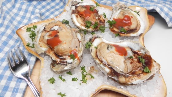 Air Fryer Oysters on the Half Shell Recipe