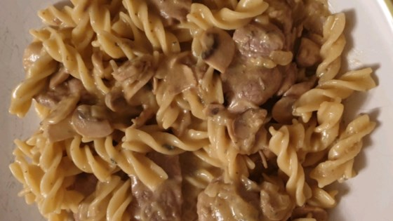 Photo of Pork with Linguine and Blue Cheese Mushroom Sauce by PHYLLISMUN