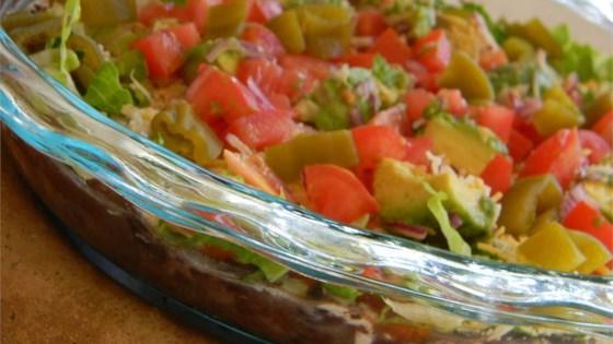 mandas seven layer taco dip review by trina rose