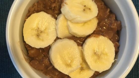 Photo of Vegan Chocolate Banana Oatmeal  by TheBlondeBaker