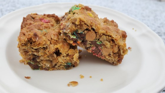 Photo of Peanut Butter and Chocolate Monster Cookie Bars  by Tynisha