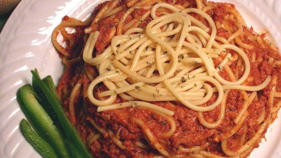 Photo of Spaghetti with Corned Beef by Lymari