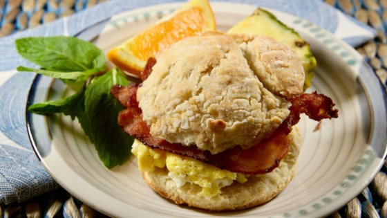Photo of Bacon, Egg, and Cheese Buttermilk Biscuit Breakfast Sandwich by lutzflcat