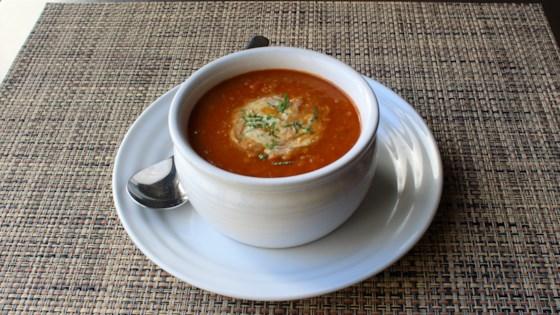 Photo of Red Lentil Soup with Lemon-Mint Yogurt by Chef John