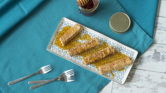 Photo of Crispy Sesame Feta Fingers with Honey by Diana Moutsopoulos