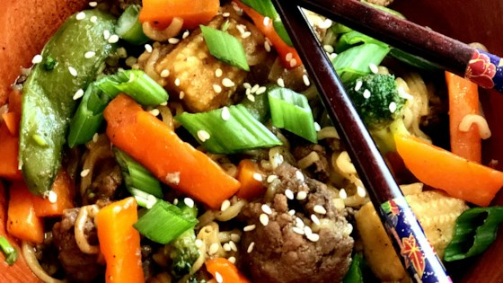 Photo of Asian Ground Beef Noodle Bowls by Yoly