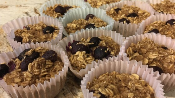 Photo of Vegan Blueberry and Banana Oatmeal Muffins by Salvatore Tuozzola