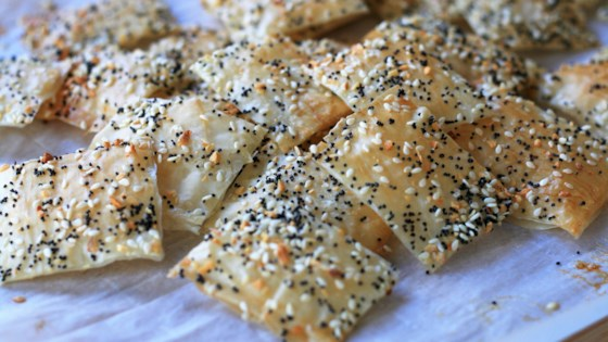 """Photo of """"Everything"""" Seasoning Phyllo Crackers by France C"""