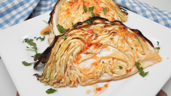 Photo of Sweet and Spicy Roasted Cabbage Wedges by Soup Loving Nicole