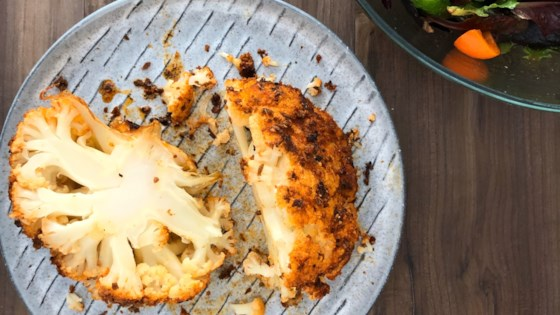 Whole Roasted Cauliflower with Smoked Paprika Recipe