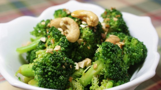 broccoli with garlic butter and cashews review by loves to cook