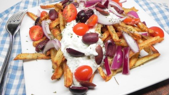 Photo of Air Fryer Loaded Greek Fries by Soup Loving Nicole