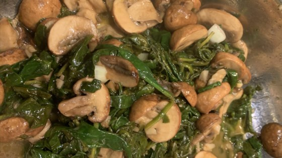 Photo of Balsamic-Garlic Spinach and Mushrooms by Brian Genest