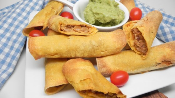 Photo of Air Fryer Beefy Vegan Taquitos by Soup Loving Nicole