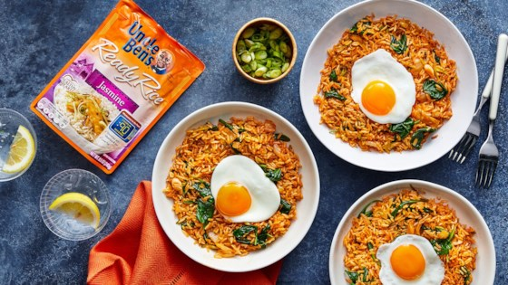 Photo of Kimchi Fried Rice with Frizzled Eggs by Uncle Ben's