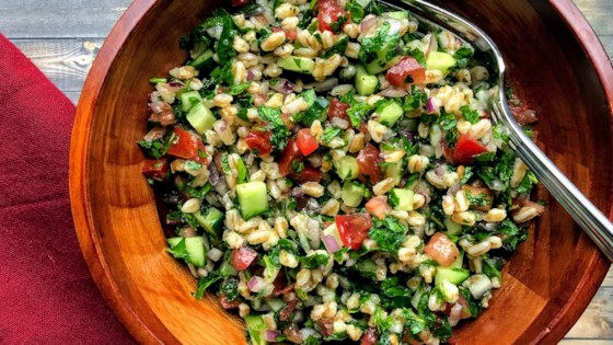 Photo of Farro Tabbouleh by Kim's Cooking Now