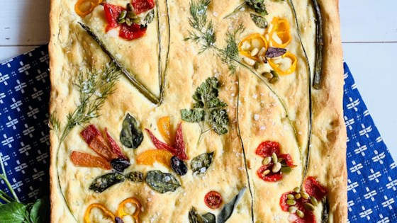 Photo of Decorated Focaccia Bread by ChefJackie