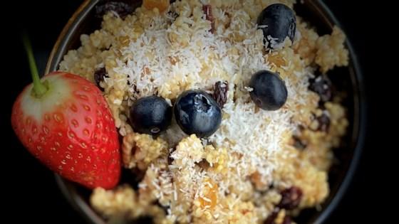 Photo of Millet Breakfast Porridge with Fruit by IVOIRIENNE