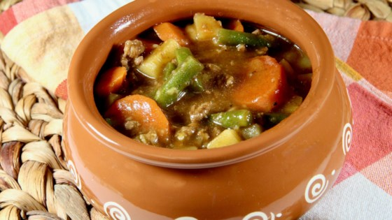 Photo of Ground Beef and Vegetable Stew by armom